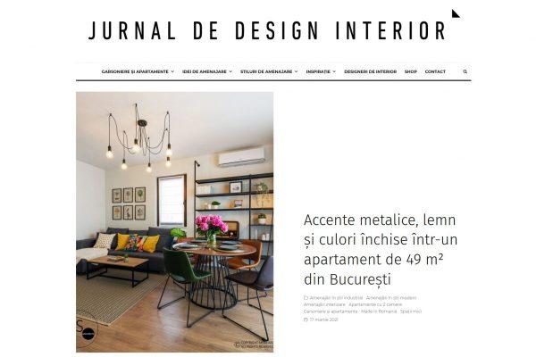 2021.Jurnal de design interior (Industrial Airbnb Apartment) - martie